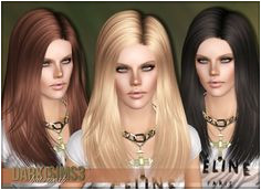 3K Followers Gift AF Hair 02 for females by Darko Nightcrawler Sims 3