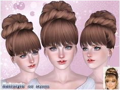 Sims 3 hair hairstyle genetics female sims3 The Sims Sims 1