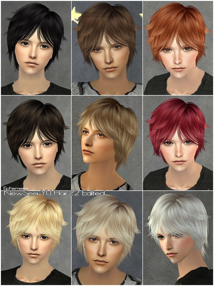 Mod The Sims CoolSims male hair 27 Peggy Free hair NewSea male hair 22 Edited