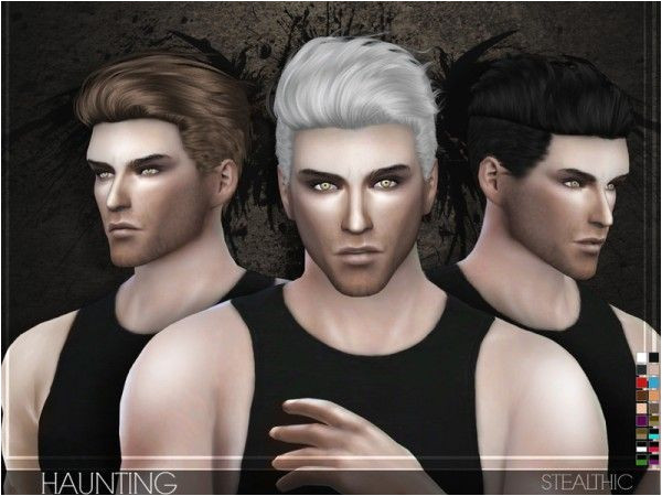 The Sims Resource Stealthic Haunting Male Hair • Sims 4 Downloads