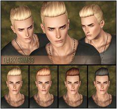 DarkoSIMS3 Agustin Elvis Hair Best Sims My Sims Sims 3 Male Hair