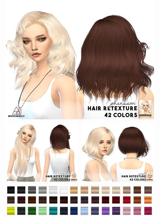 Miss Paraply Sintiklia hairs • Sims 4 Downloads