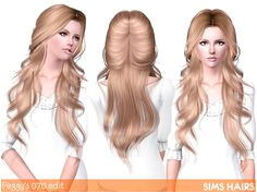 Peggy s 070 hairstyle romantic edit by Sims Hairs for Sims 3 Sims Hairs