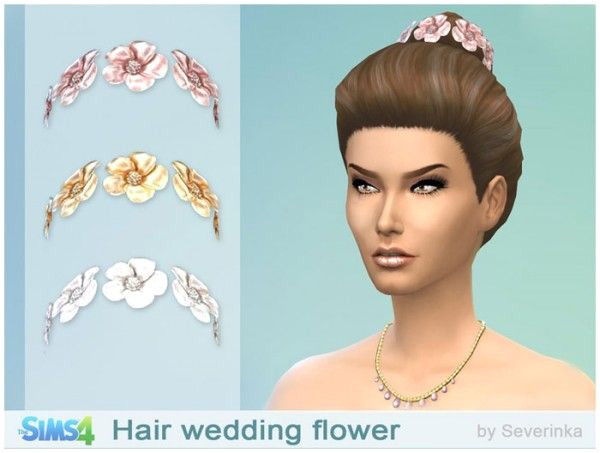 Sims by Severinka Wedding hair flowers • Sims 4 Downloads