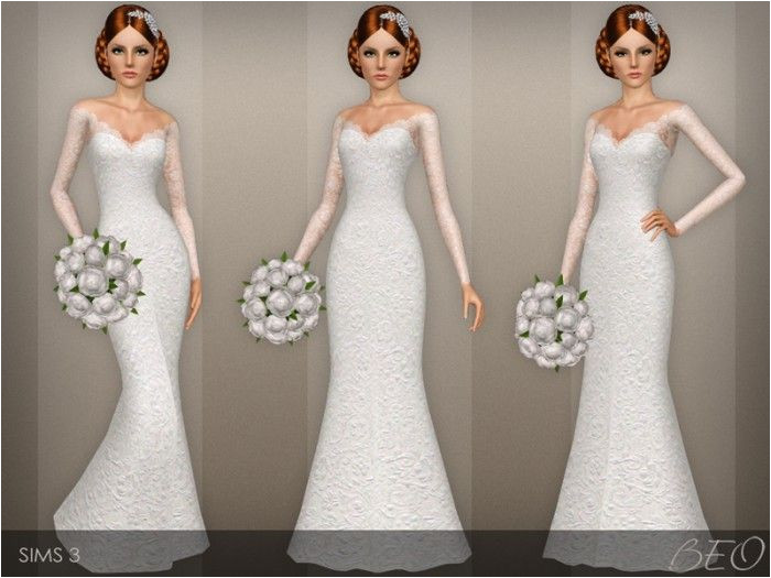 Wedding dress 40 by BEO Sims 3 Downloads CC Caboodle