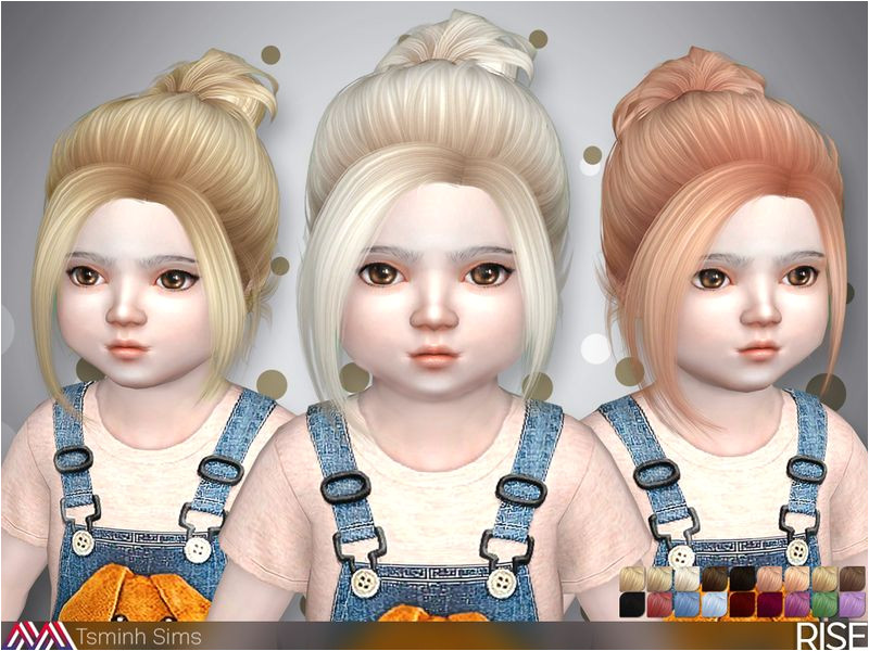 Hairstyle with bun Found in TSR Category Sims 4 Female Hairstyles