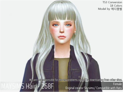 Mermaid Anime Hairstyle for The Sims 4