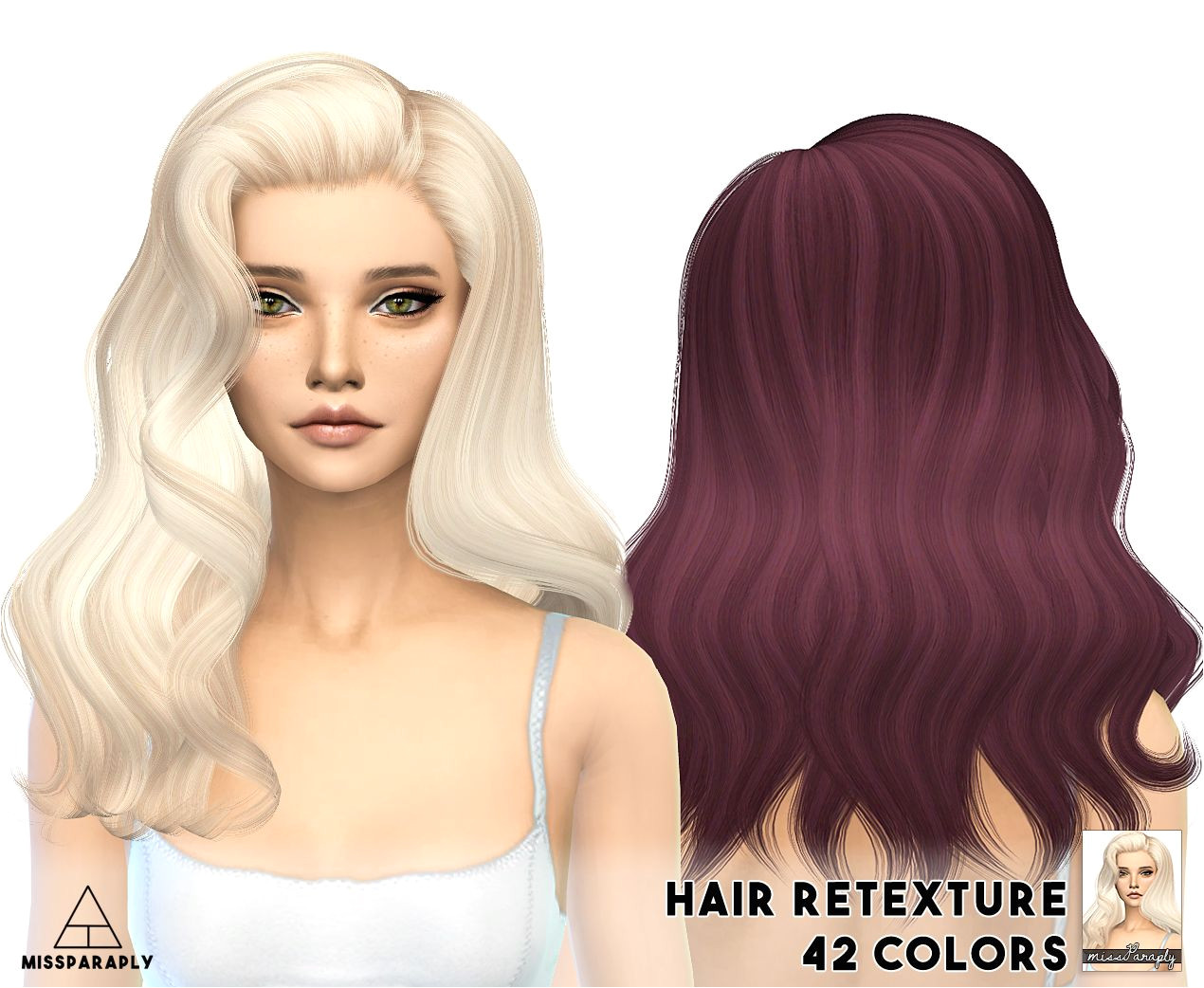 Miss Paraply Alesso s Omen hairstyle retextured Sims 4 Hairs