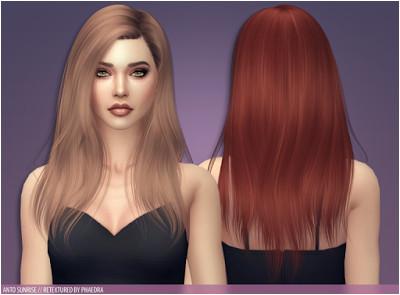 The Sims 4 Mody Re kolor włos³w Anto Sunrise od Phaedra