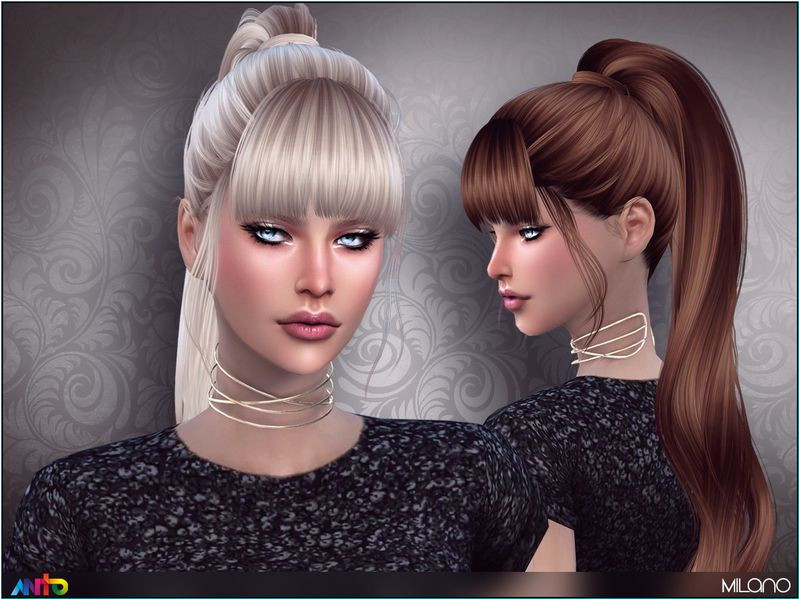The Sims Resource Milano hair by Anto Sims 4 Hairs