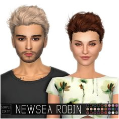 Newsea Robin Hair Conversion for Males and Females Sims 4 Custom Content