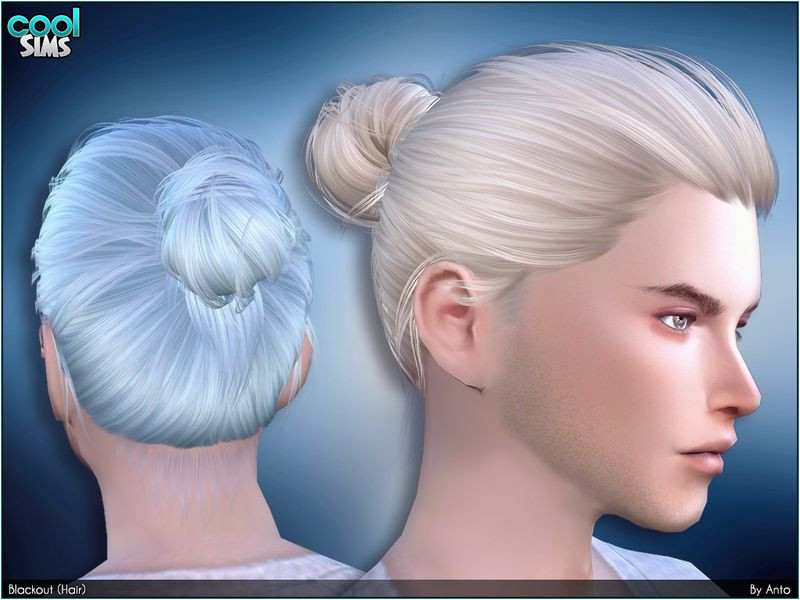 Bun for your male sims Found in TSR Category Sims 4 Male Hairstyles