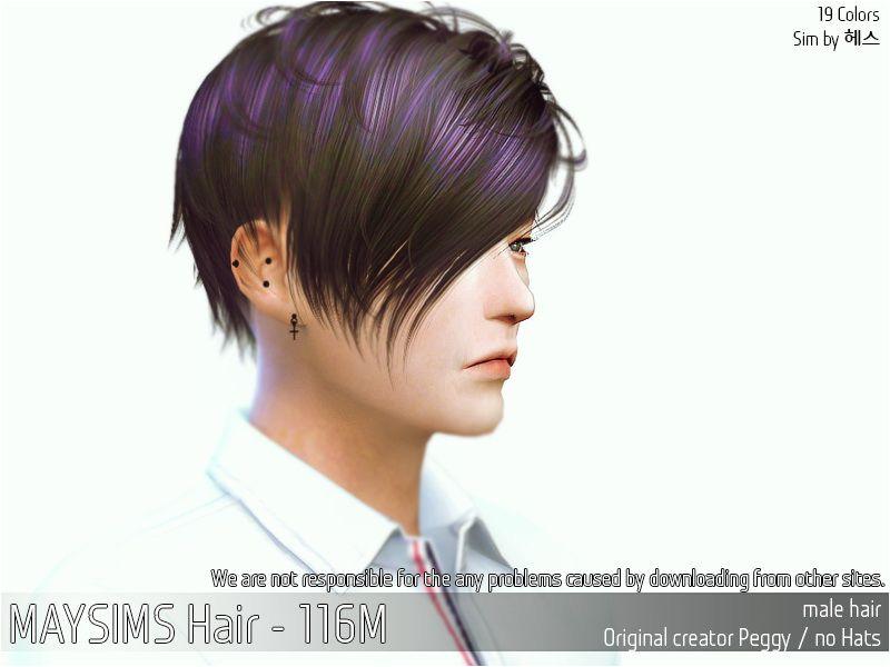 MAY Sims May Hair 116M Sims 4 Hairs sims4hairs