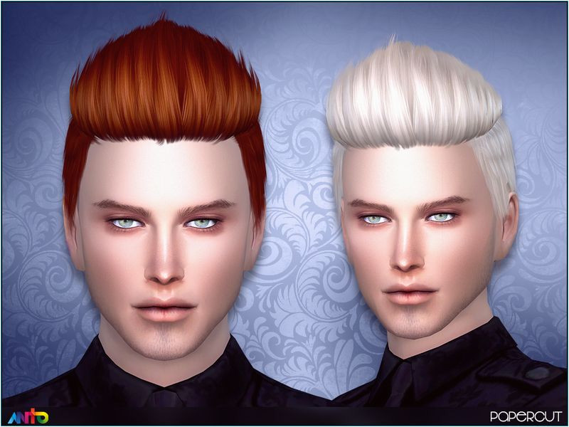 Short spiky hair for your sims Found in TSR Category Sims 4 Male Hairstyles