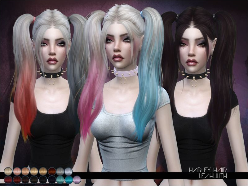 Harley hair Found in TSR Category Sims 4 Female Hairstyles