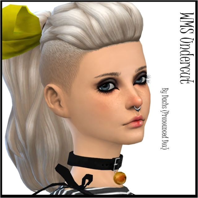 Sims 4 Updates Dachs Sims Hairstyles WMS Undercut pony Custom Content Download