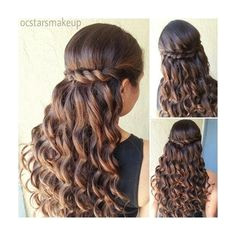 Prom Hairstyle Beautiful curls with a twisted braid can be nice for a Quince or Sweet