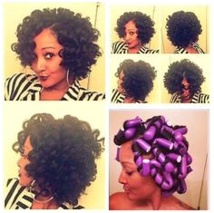 Check out this Flexi Rod video tutorial for relaxed hair and for those transitioning to natural hair Flexi rods on natural hair makes a protective style