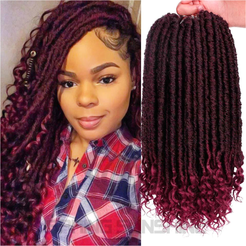 2019 Goddess Faux Locs Hair Crochet Dreadlocks Hair Extensions Kanekalon Jumbo Dreads Hairstyle Ombre Curly Fauxlocs Crochet Braids From Zyhbeautyhair