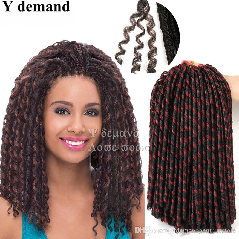 Soft Dreadlocks Synthetic Faux Locs Braiding Hair Crochet Braid Twist 20 Inch 75g Kanekalon Hair Extensions Soft Dreadlocks Faux Locs Crochet Braid Twist