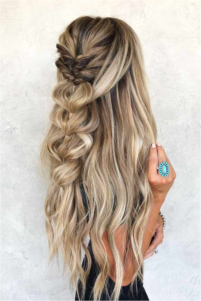 Twisted Half Updo With Braids home inghairstyles home ing hairstyles braids longhair ❤
