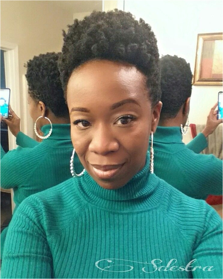 Shrunken twist out tapered natural hair