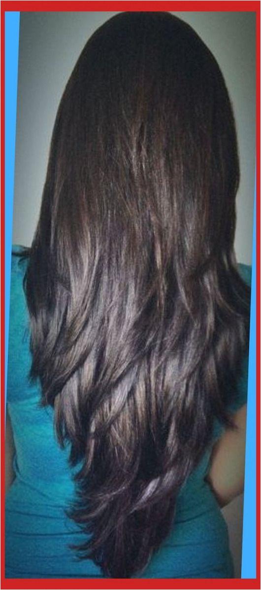 long layered v cut haircuts front view Google Search