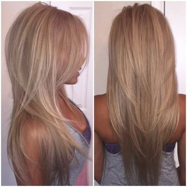 V Cuts Hairstyles V Cut Long Layers …