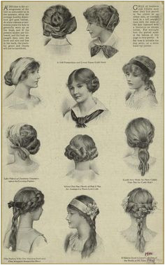 Hairstyles For Teenage Girls United States 1910s
