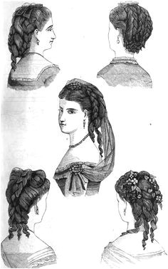 1870 fashions 61 hair 998—1600 1800s Hairstyles