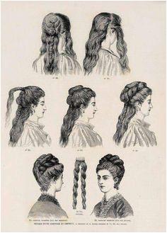 Vintage Hairstyles Edwardian Hairstyles Historical Hairstyles 1800s Hairstyles 1870s Fashion Victorian