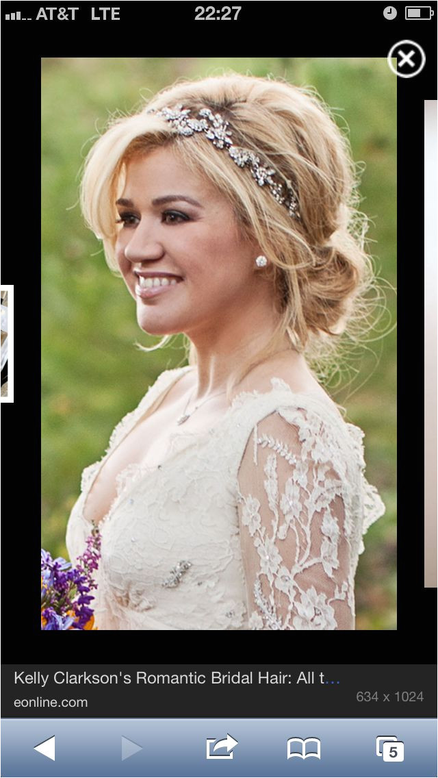 Jeweled headband soft up do country wedding Wedding Stuff