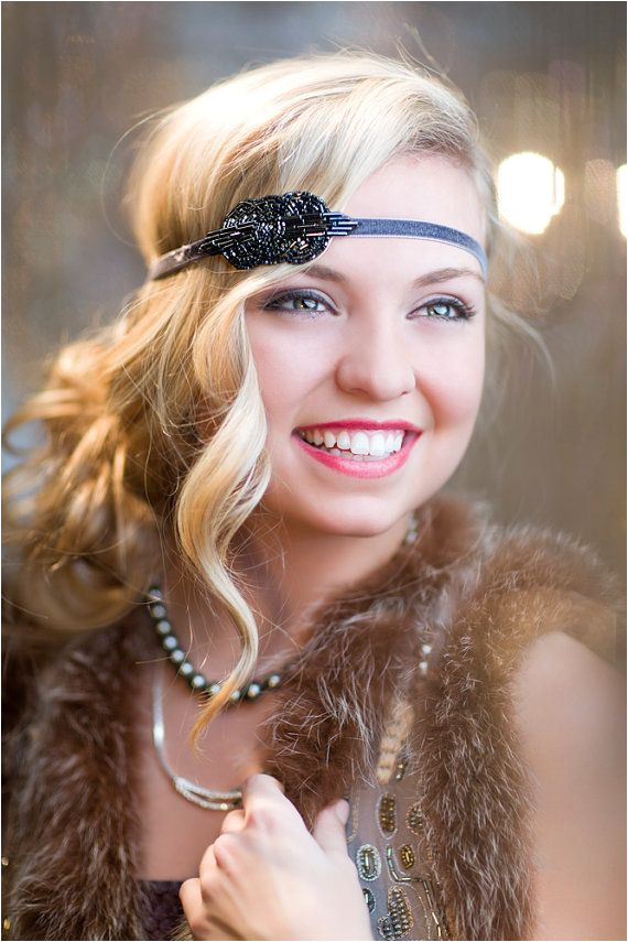 1920s Flapper Headpiece The Great Gatsby Headband by FlowerCouture $25 00