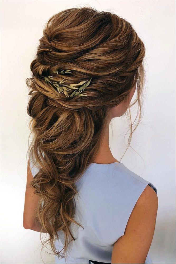 wedding hair half up greek swept cascading on long hair oksana sergeeva stilist via instagram beautifulweddinghairstyles Visit January 2019
