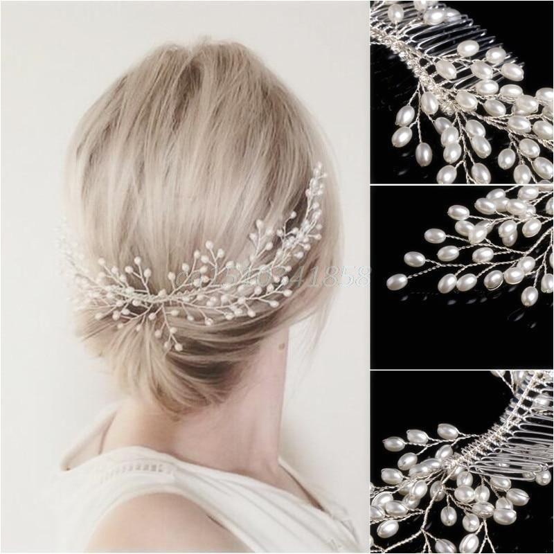 Bridal Faux Pearl Wedding Girls Tiara Headdress Headband Hair b Jewelry Party Hair Accessories Yesterday s