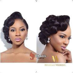 Nigerian wedding black bridal hair ideas and inspiration 44 Short Updo Wedding Wedding Updo Black