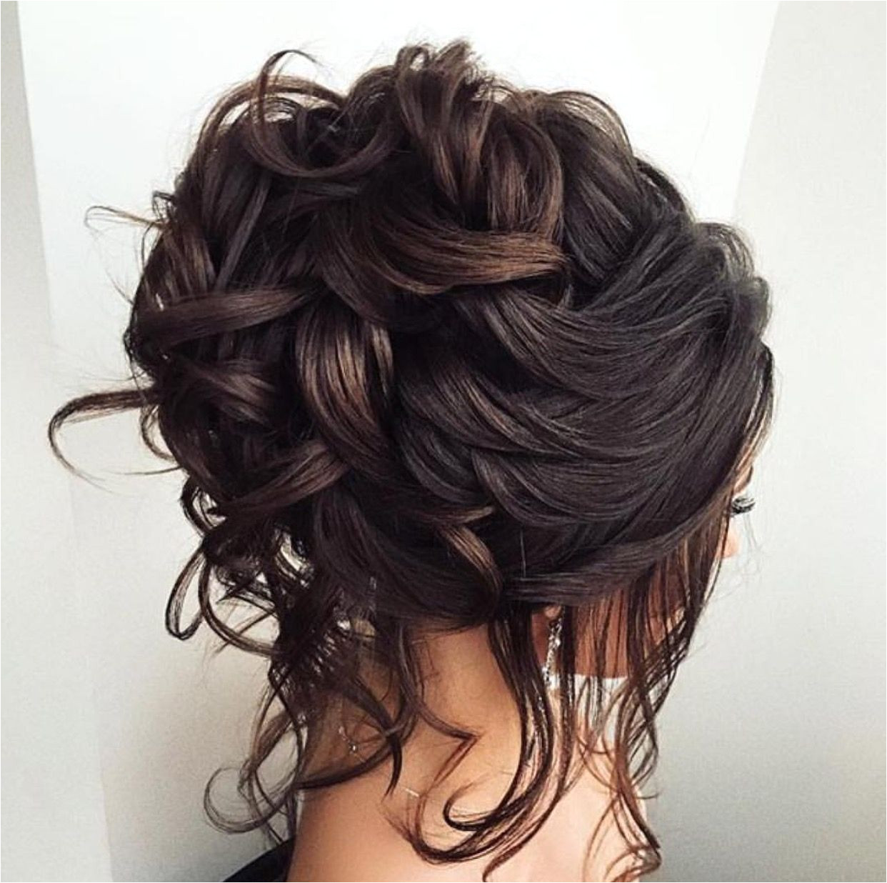 Curly hairyy Curly Hair Updo Wedding Bridal Hair Updo Loose Romantic Wedding Hairstyles