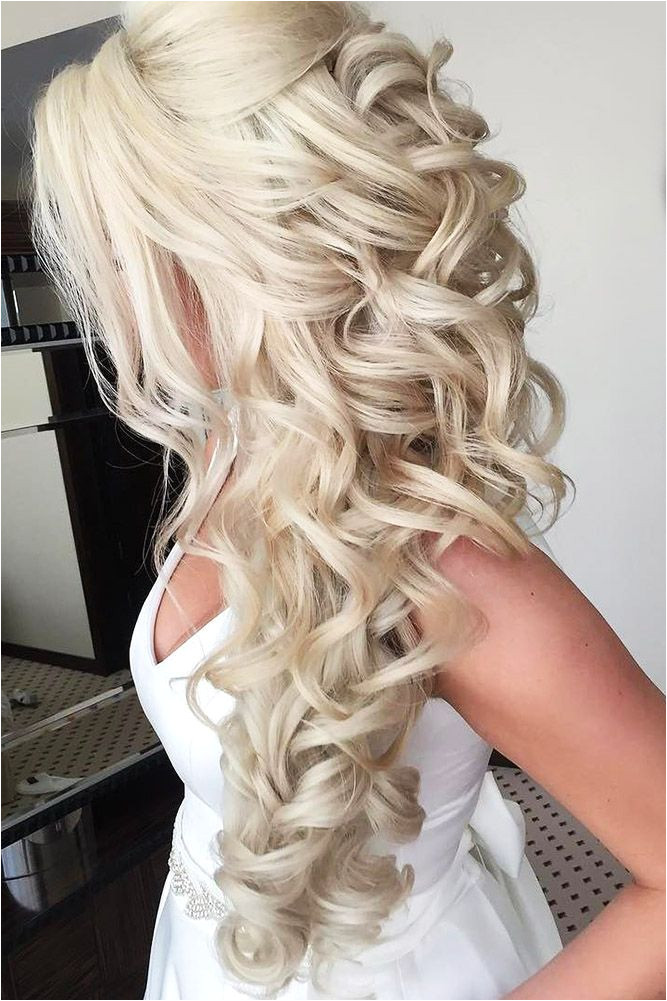 Wedding Hairstyles Down and Curly 42 Half Up Half Down Wedding Hairstyles Ideas Wedding