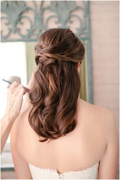 half up half down straight wedding hair Google Search