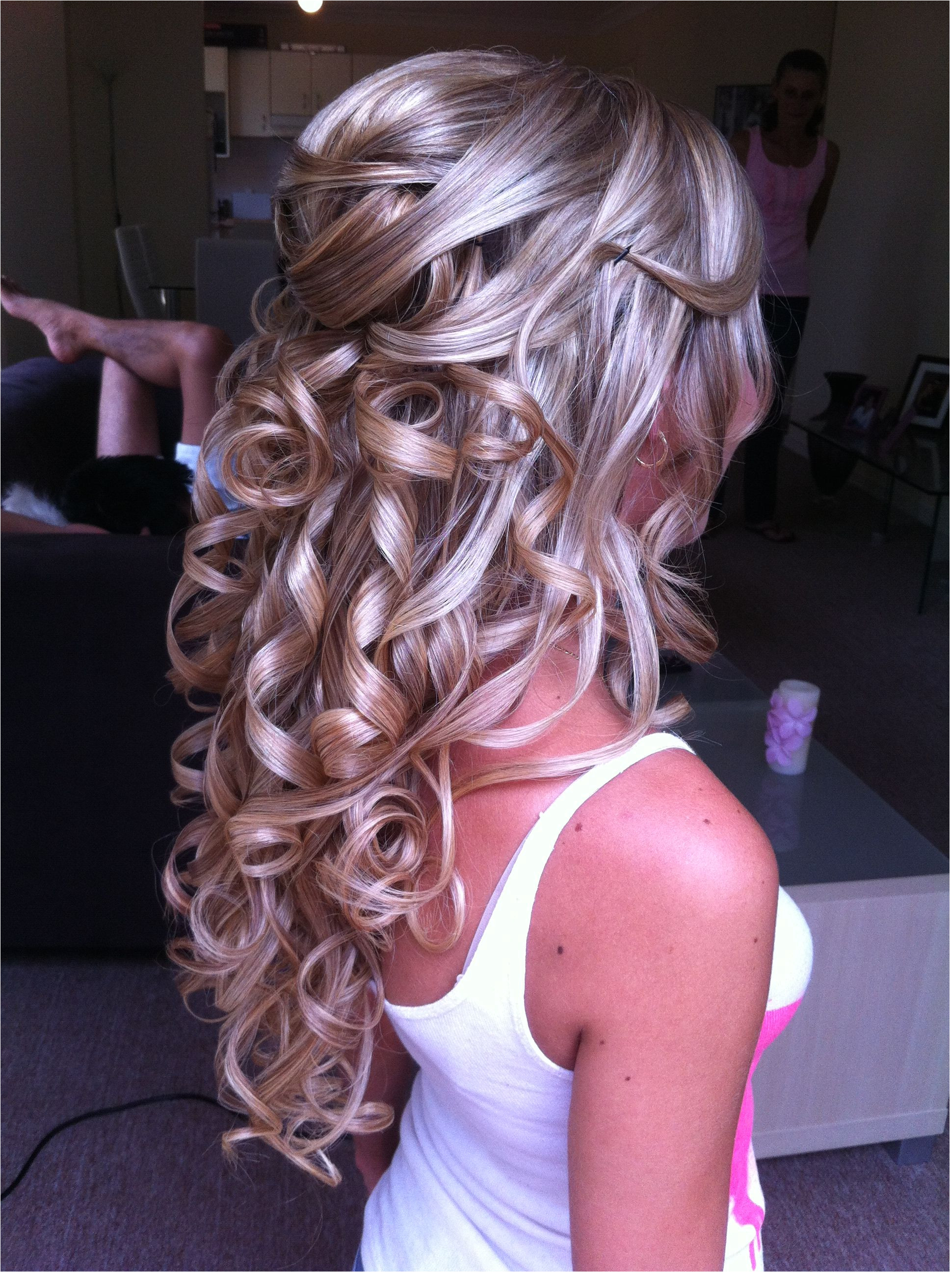 half updo Prom Hairstyles For Long Hair Curly Medium Wedding Hairstyles Long Curly Wedding