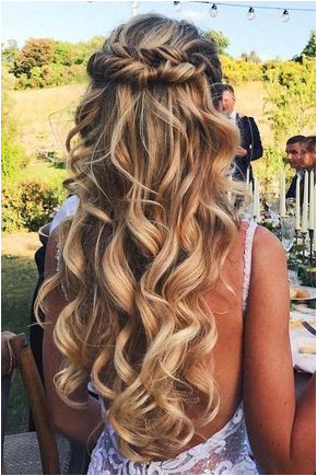 The Chic Technique Beautiful long hair wedding hairstyle