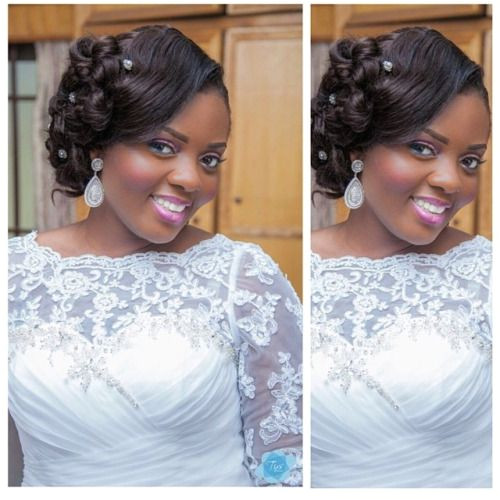 Beautiful Ghanaian bride Hair & makeup by beauvhiqbyjenn