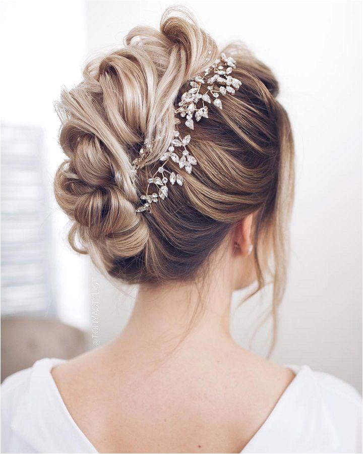 Bridal updo wedding hairstyle inspiration Bridal updo wedding hairstyle inspiration wedding hair bridal hair wedding hair ideas weddinghairstyles