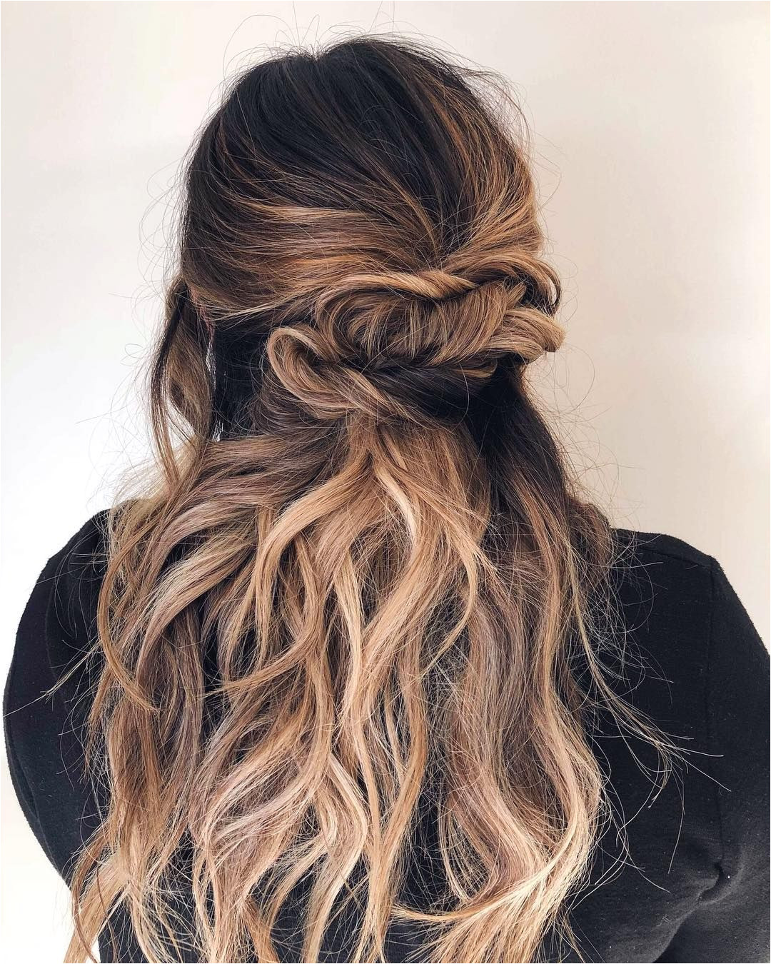 Braids half up half down hairstyle boho hairstyle updo wedding hairstyles hair hairstyles