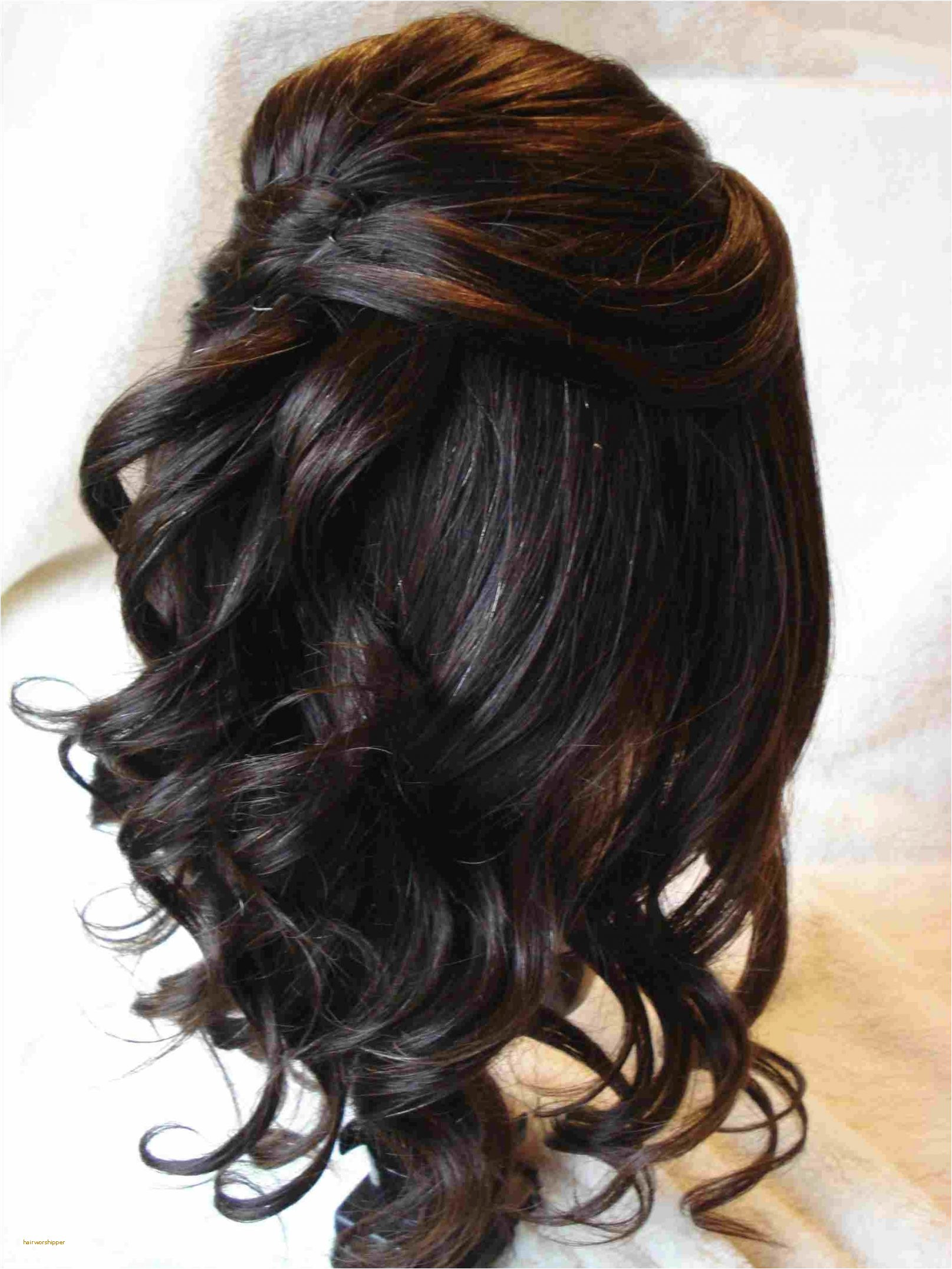Bridal Hairstyles Half Up Half Down with Braids Inspirational Half Up Half Down Curls for Short