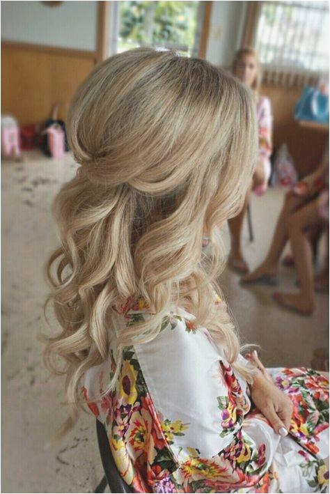 Wedding Hairstyles Half Up Best Half Up Half Down Curl Hairstyles – Partial Updo Wedding