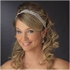 half up half down wedding hairstyles with tiara and veil Google Search Bridal Hair Half