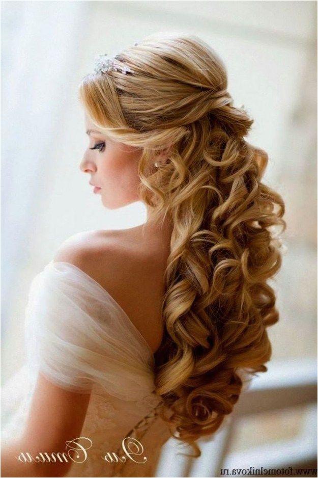 Wedding Hairstyles Half Up with Veil and Tiara Wedding Hairstyles for Long Hair Half Up with Veil and Tiara