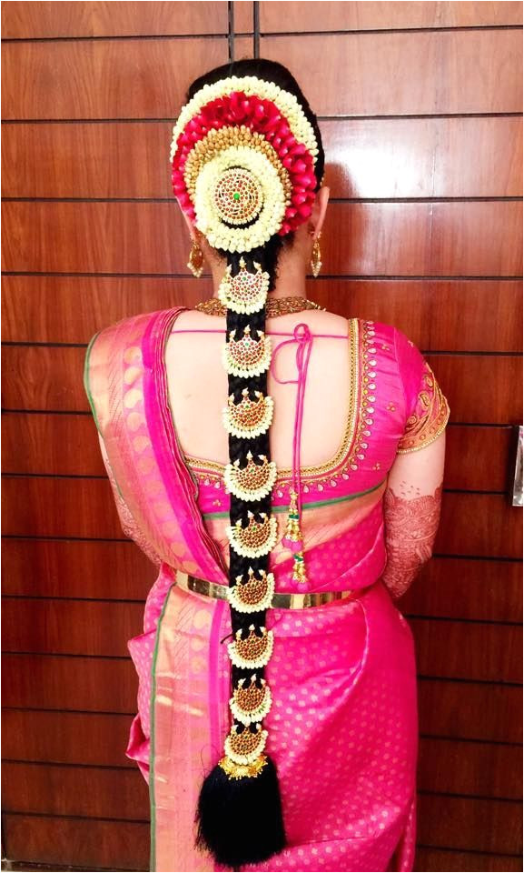 Gorgeous South Indian Wedding bridal Hairstyles 5