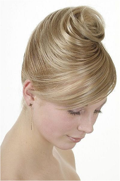 Highly collected wedding hairstyle with side bangs bridesmaid bridal wedding…